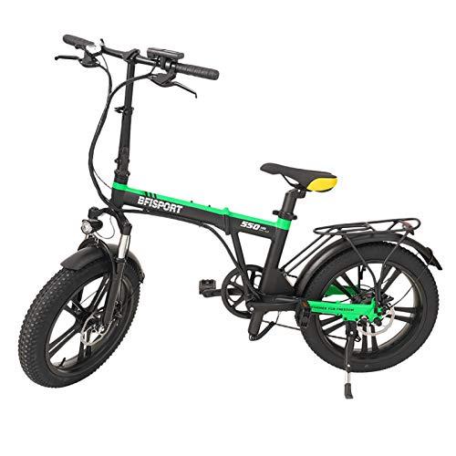 AUTOECHO Bici Elettrica, Bici Elettrica Pieghevole 36V 350W per Adulti, Bicicletta da Pendolare A Pedalata Assistita, Biciclette Elettriche, Mountain Bike