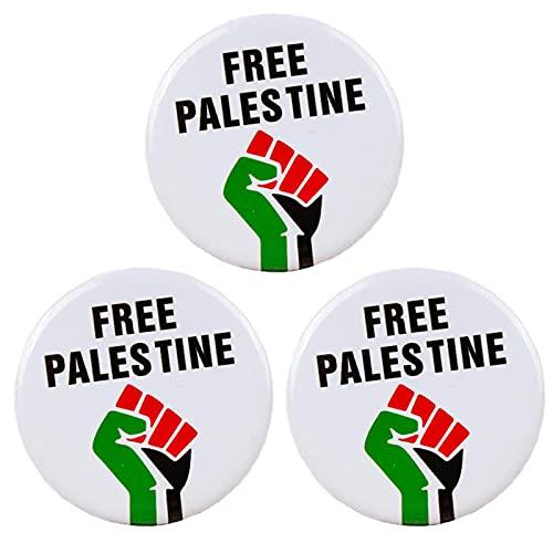 GUANXIN Distintivo Della Palestina Gratuito - Distintivi Dei Perni Dei Pulsanti Della Bandiera Della Palestina, Distintivi Della Libertà del Pugno Della Bandiera Della Palestina Gratuiti 3PCSB