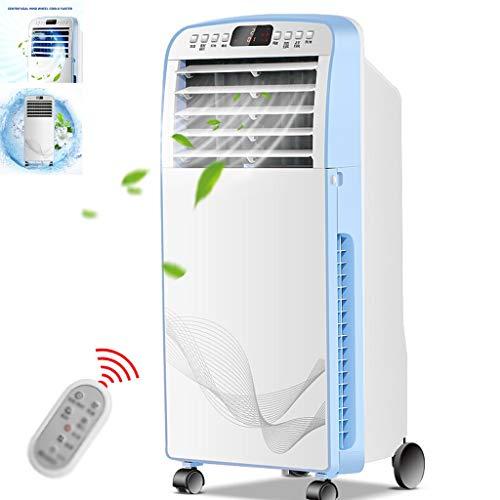 Por Evaporación Del Refrigerador De Aire Ventilador Eléctrico Del Hogar Humidificador De Aire Tanque De Agua Grande Gran Volumen De Aire ( Color : Blanco , Size : 38x28x90cm )