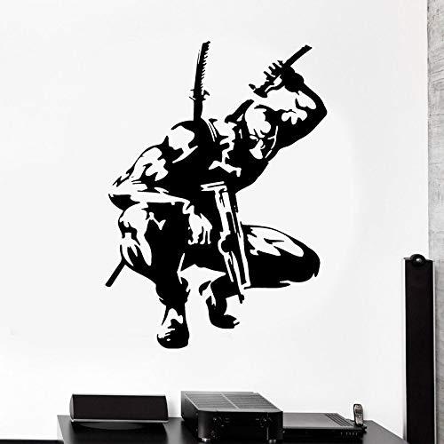 wZUN Wandtattoo Hero Sticker Comic Wandkunst Wohnzimmer Dekoration Vinyl Art Boy Raumdekoration Wasserdicht 50x69cm