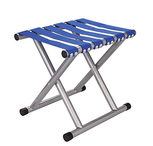 ZURATO Portable Folding Stool for Camping Super Strong Heavy Duty Outdoor Folding Chair Picnic Stool Collapsible Camping Stool Mini for Travel Garden Chair - 31 * 25 * 30 cm (Stool - Colorful)
