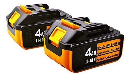 2 Stück BL1840B Ersatzakku für Makita 18V 4000mAh Lithium Akku Kompatibel mit Makita BL1840 BL1840B BL1850B BL1850 BL1860B BL1860 BL1830B BL1830 BL1820 BL1815 BL1845 LXT-400 (4.0ah *2 Stück)