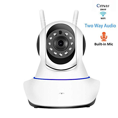 720P Wifi HD Camera Indoor Wireless IP Cam HomeVideo Surveillance met nachtzicht Motion Detection Two Way Audio, for een kind/Dier/Elder- (32G geheugenkaart) HAOSHUAI