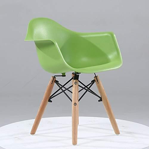 Leixin hoekstoel, creatief, Scandinavisch, minimalistisch, kinderen, moderne meubels, stoel van kunststof van hout, kinderstoel (zwart)