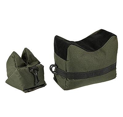 Jadedragon Shooting Rest Bags, Front Rear Shooting Sand Bag Sandbag for Hunting Hunter Shooter (Green)