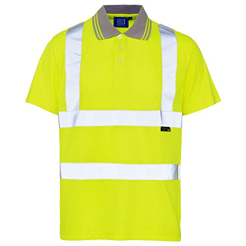 Hi-Viz - Polo - Manches courtes - Homme Orange Orange, Jaune, Large
