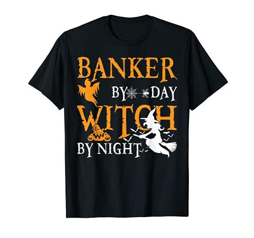 Regalos para banqueros banqueros por da bruja por noche Halloween Camiseta