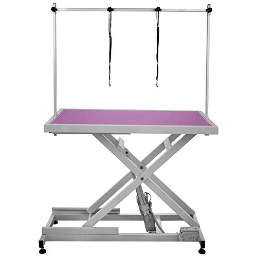 Happybuy Electric Grooming Table Heavy Duty 42 x 24 Inch Electric Dog Grooming Table 440LB Grooming Table for Pets (X/42x24In/Pink)