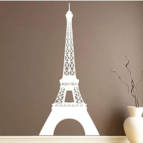 Landmark Eiffelturm Wandaufkleber Abnehmbares Vinyl Wasserdicht Paris Home Decor Wandtattoos 27cmx59cm