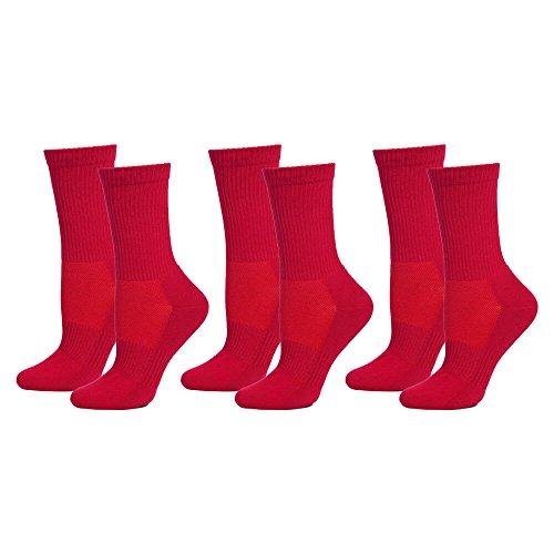 Safersox Mückensocken-Sportsocken Socken - 3er Vorteilspack Rot, 39-42