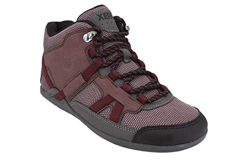 Xero Shoes Women's DayLite Hiker Fusion Boot - Lightweight Hiking, Everyday Boot, Burgundy, 6