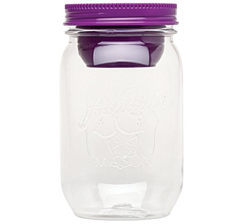 aladdin 10-01828-005 Salatbehälter Classic Mason Salad Jar, 1 L mit getrenntem Dressingbehälter, berry