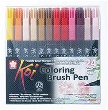 Sakura KOI Coloring Brush Set 24 - Pack de 24 rotuladores,