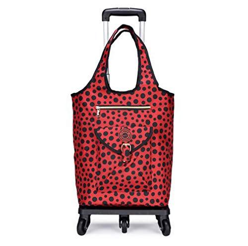 Y&MoD Einkaufstrolley Klappbar Kühlfach Isoliert 30l - Einkaufswagen Mit Wasserabweisender & Abnehmbarer Tasche Mit Großen Rädern BIS 50kg Belastbar A/E