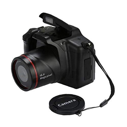 Cámara Digital SLR 1080p Cámara digital con zoom 16X de vídeo videocámara digital portátil con pantalla de 2.4inch para la fotografía Vlogging Negro