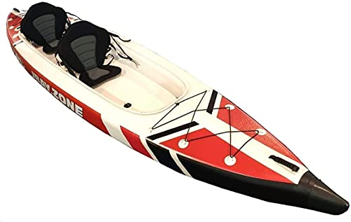 JBAY.Zone Kayak Canoa Hinchable 2 Plazas V-Shape Duo 426x89cm enteramente en Drop-Stitch de Alta presión