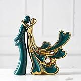 CiYuan Moderno estilo europeo de cerámica amante forma escritorio vino gabinete decoración decoración del hogar artesanías arte regalo boda estatuillas oficina pájaro decoración