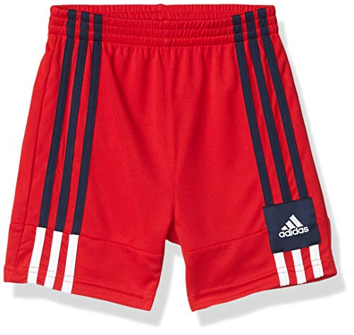 adidas Boys' Big Active Sports Athletic Shorts, 3G Speed X Red, L(14/16)