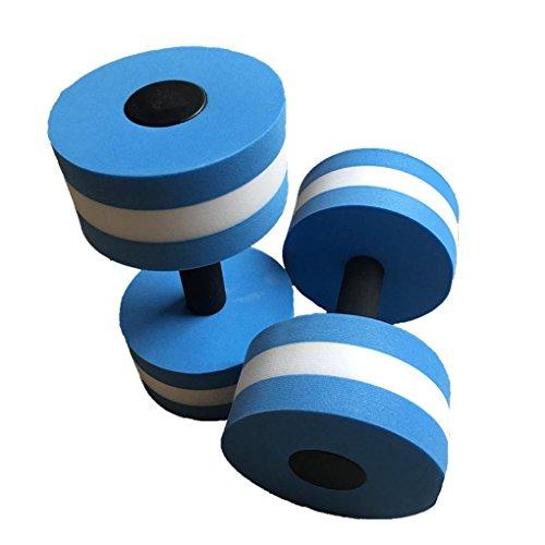 Uzinb 1 par Agua Aerobic Mancuernas acuática EVA Barra Aqua Fitness Piscina Yoga Ejercicio de Accesorios elásticos