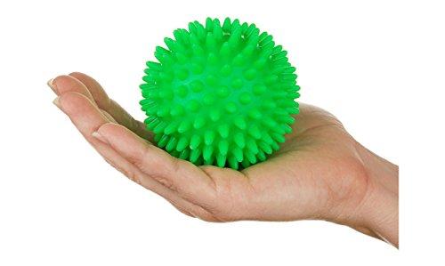 tykusm 7cm Pelota sensorial con pinchos para masaje disparador para fitness-green