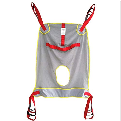 Z-SEAT Atmungsaktiver Ganzkörper-Patientenlift-Sling mit Netz, medizinische Liftausrüstung mit Kommodenausschnitt, Vier-Punkt-Transfer-Sling für ältere und behinderte Mensc
