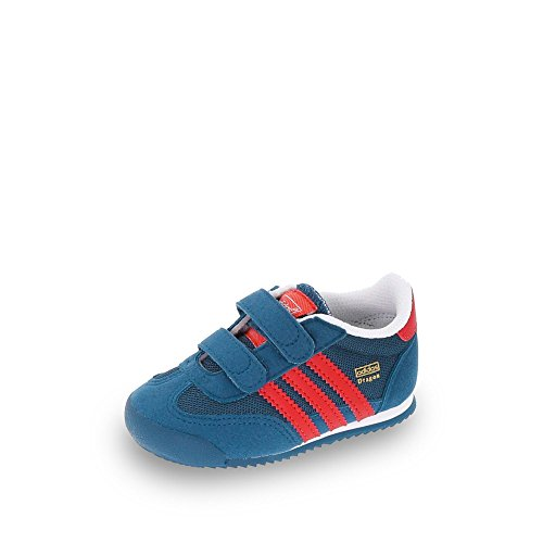adidas Unisex Baby Dragon CF I Sneakers, blau/rot/weiß (Azusom/Rojexu/Ftwbla), 19 EU