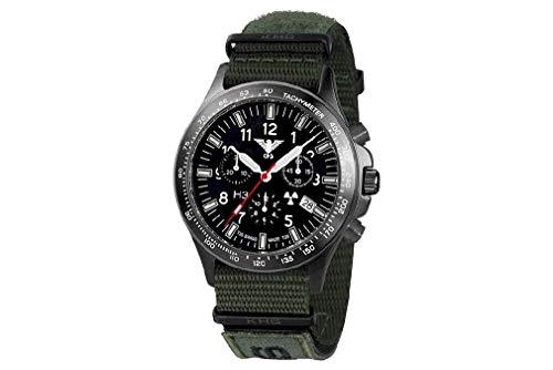 KHS Uhren Herrenuhr Black Platoon Titan Chronograph KHS.BPTC.NXTO1