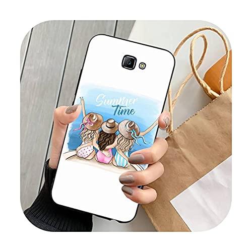 FightLY Moda hermosa chica teléfono caso para Samsung J 4 5 6 7 8 prime plus 2018 2017 2016 J7 core-a14-para J4 2018