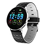ZUZEN Pantalla Completa Touch Thinner Smart Watch IP68 a Prueba de Agua Modo de Deportes múltiples Bricolaje Cara de Reloj 250 Mah Gimnasio Pulsera,B