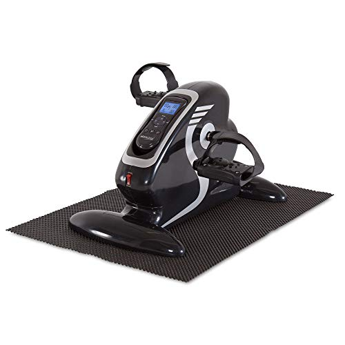 maxVitalis Bewegungstrainer Arm- und Beintrainer 2in1 mit Motor Pedaltrainer mit Trainingsdisplay Massage-Handgriffe Mini-Heimtrainer 1.0