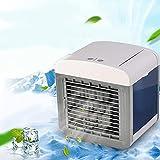 Aire acondicionado portatil silencioso, Enfriador de aire de verano Mini ventilador de aire acondicionado portátil para oficina de escritorio con carga USB