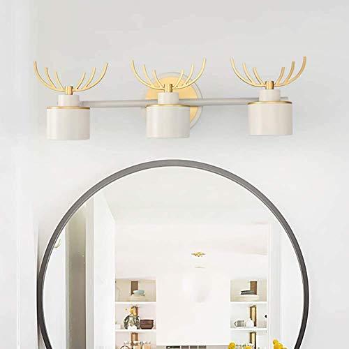 SXFYWYM Ledspiegel, creatief, antivries, spiegelvorm, verlicht, badkamer, anti-condens, verlichting, make-up
