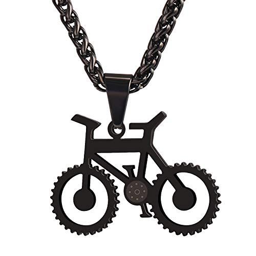 UMtrade Fahrrad Schmuck Männer Radfahren Enthusiast Anhänger Edelstahl Fahrrad Halskette