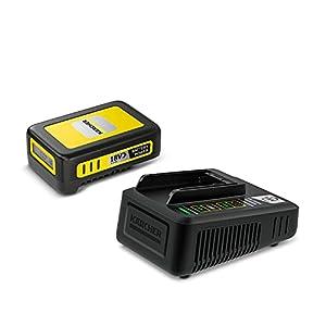 Kärcher 18V Starter Kit Battery Power 18/25 (18V / 2,5 Ah Battery Power-Wechselakku, 18V Schnellladegerät, für alle Geräte der Kärcher 18V Battery Power Plattform)