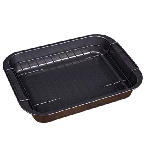 Cabilock Stainless Steel Baking Sheets with Rack Rectangular Cake Pan Roaster Pasta Baking Cookie Sheet Pan for Oven