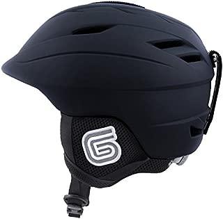 Grayne MTN Ski and Snowboard Helmet Black w/Audio Ready Liner