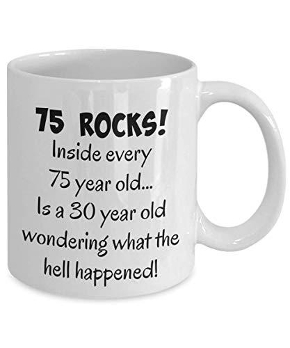 75th Birthday Mug for Women, Men, Mom, Dad, Son, Daughter, Happy 75 Year Old