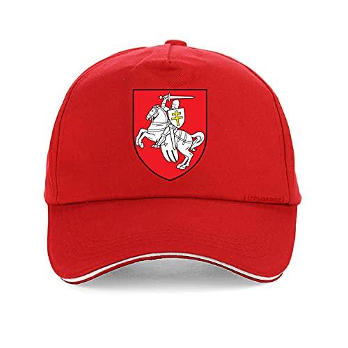 Yooci Gorras De Hombre Gorra de béisbol con Estampado de Bandera Moda Caballero Blanco pagonya Hombres Sombrero Snapback Ajustable Unisex Sombreros Gorras-Rojo