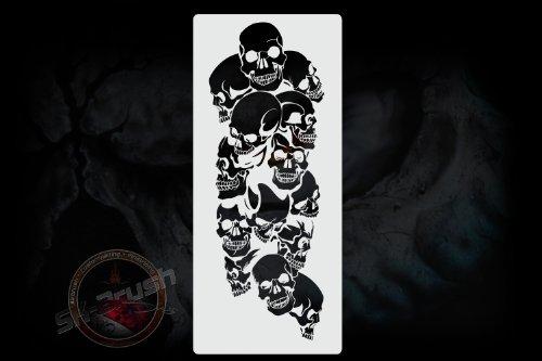 Airbrush Schablone für Schädel Skullhaufen - Totenköpfe Stencil Skull's Kopf