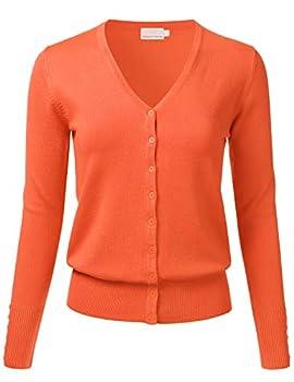Best orange cardigan Reviews