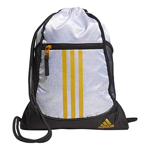 adidas Alliance II Sackpack, Unisex-Erwachsene, Alliance II - Rucksackbeutel, 5150765, Weiß/Schwarz/Legacy Gold, Einheitsgröße
