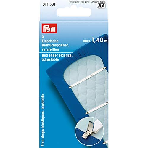 Prym elastische Betttuchspanner, verstellbar, 3 Stück