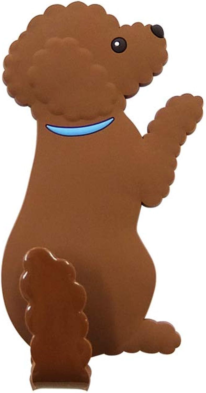 Fridge Magnet Hook  Memo and Key Holder  Dog Tail series (Toy Poodle)
