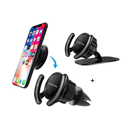 LoyaForba Clip Car Mount Compatible Car Users - LoyaForba 360° Rotation Air Vent Car Out Stand and Dashboard Sticker Holder for GPS Navigation Compatible with Phone MAX/X/8, Note 8/S9+