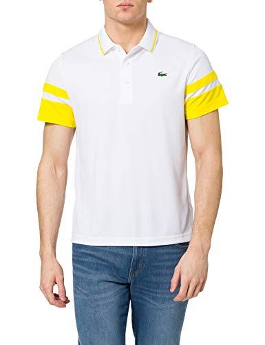 Lacoste DH9681 T Shirt Polo, Blanc/Ananas, M Uomo