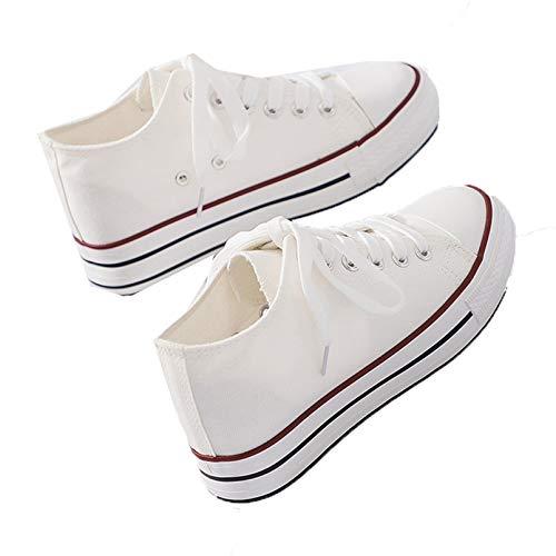 Zapatillas de Deporte para Mujer, Zapatos de Lona, cómodos Zapatos Casuales de Color sólido, talón Oculto, Antideslizante, Moda, Zapatos vulcanizados clásicos