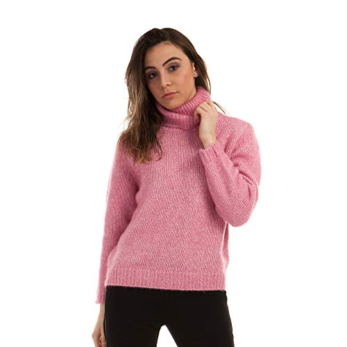 Dames pullover Coltrui trui van Alpaca Blend wol kleur Roze