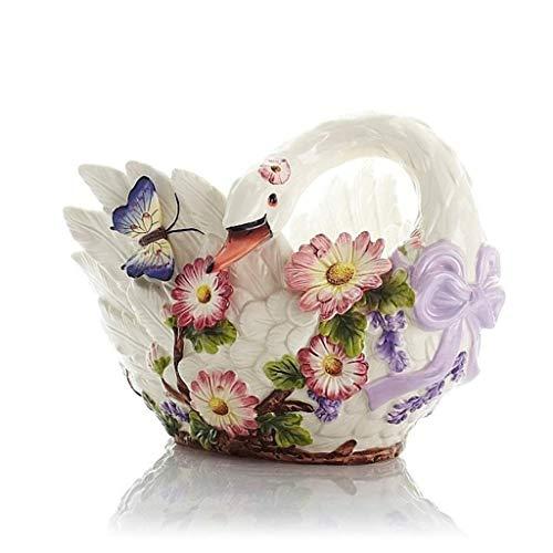 Strawberry European Fruit Plate, Creative Fashion Fruit Basket Ceramic Large Snack Plate Home Decoration