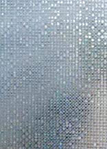 Arthome Window Film 3D Privacy Film No Glue Self Static Cling Anti UV Removable for Home Living Room Bedroom Bathroom Kitc...