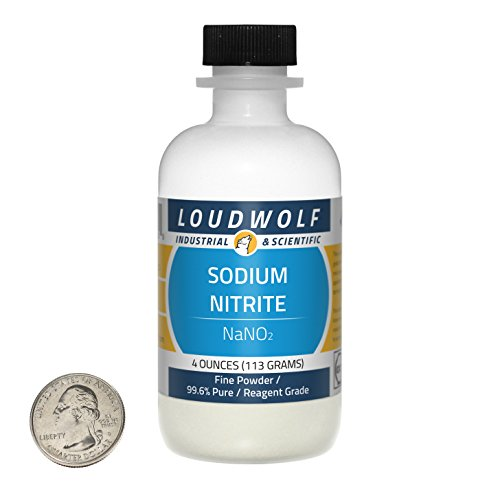 Loudwolf Sodium Nitrite/Fine Powder / 4 Ounces / 99.6% Pure/Food Grade/Ships Fast from USA